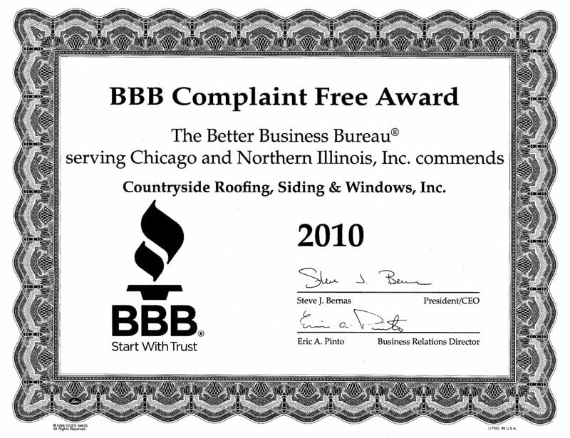 BBB Complaint Free